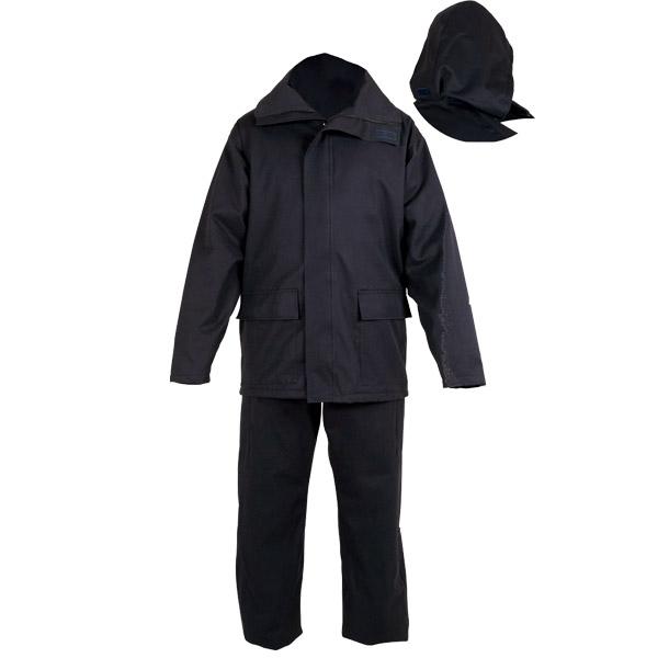 Conjunto impermeable negro en ropa de trabajo