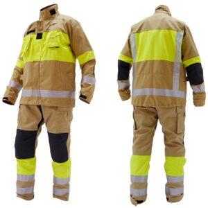 Prenda de rescate técnico, conjunto de chaqueta y pantalón